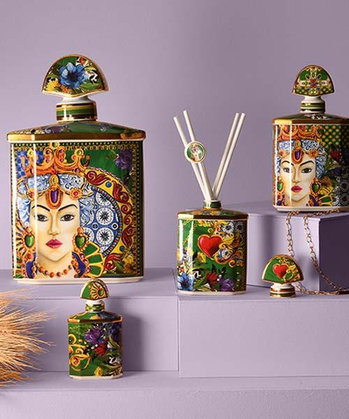 Bottiglia Portafragranze in Porcellana mini baci milano sicily