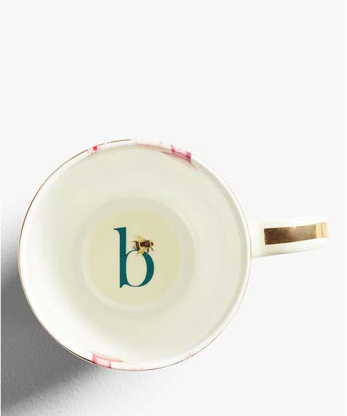 Tazza personalizzata con lettera dell'Alfabeto