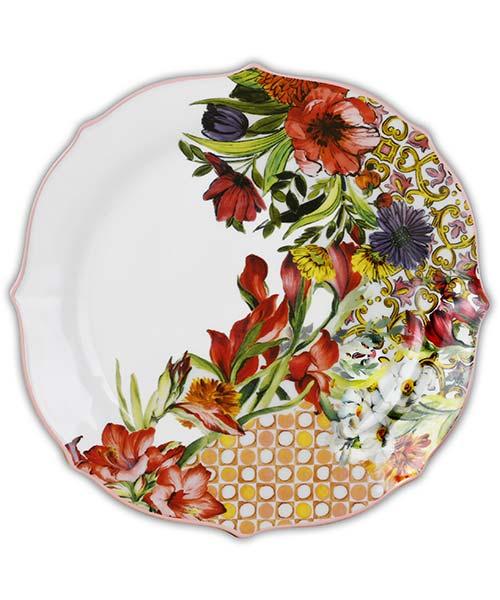 Piatti in porcellana fiori