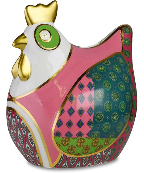 Salvadanaio gallina in porcellana