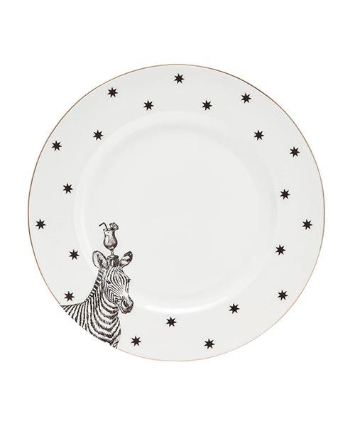 Piatto dessert zebra