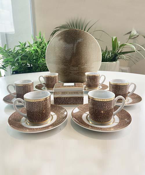 SET 6 TAZZE CAFFÈ IN PORCELLANA - OP CLASSIC ORO BORBONESE