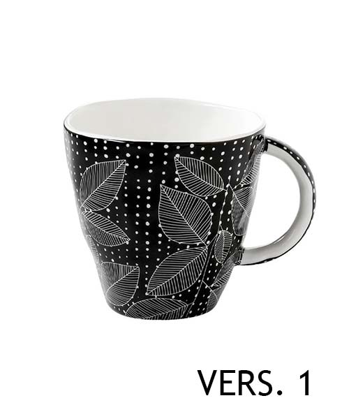 Mug in Porcellana decoro Organic