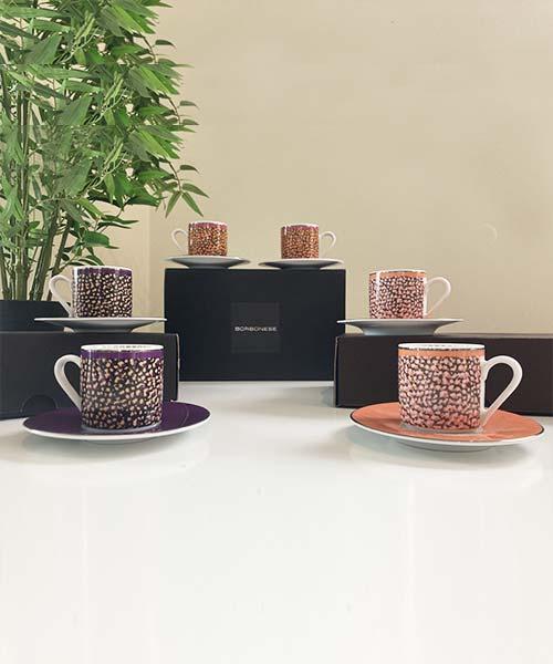 SET 2 TAZZE CAFFÈ IN PORCELLANA - BORBONESE CANGIANTE