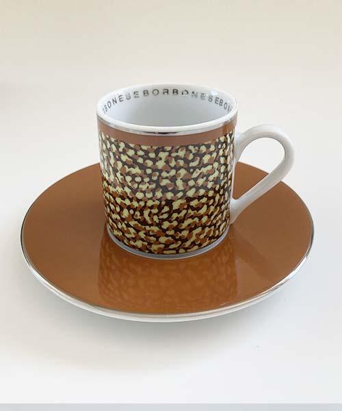 SET 4 TAZZE CAFFÈ IN PORCELLANA BORBONESE CANGIANTE COLORI ASSORTITI