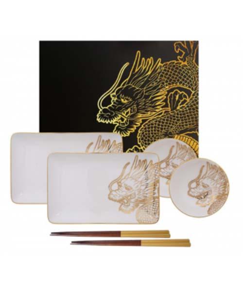 Sushi Set Dragon Gold