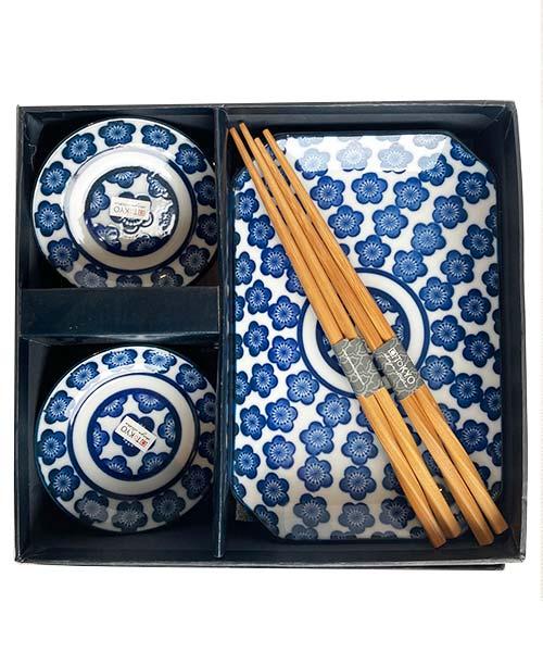 Sushi Set 6 pezzi - Blue Flowers