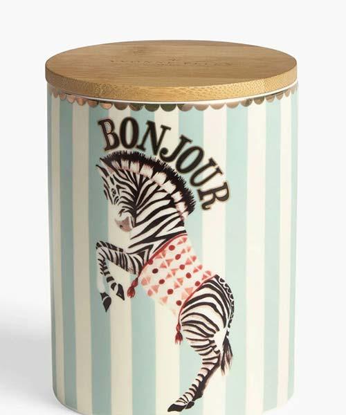 Barattolo-da-Cucina-in-Porcellana-coperchio-in-bambu-tinte-pastello