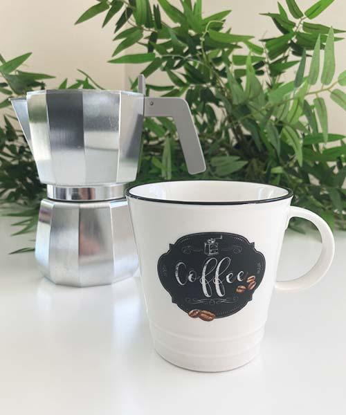 MUG PER CAFFÈ AMERICANO IN PORCELLANA EASY LIFE - KITCHEN