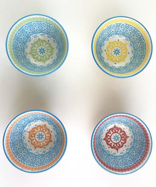 Set 4 Coppette Design + Art Cementine Color