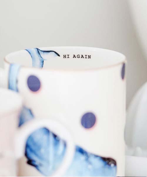 Tazza in Porcellana decorata con illustrazione Balena yvonne ellen vintage colore tinte pastello