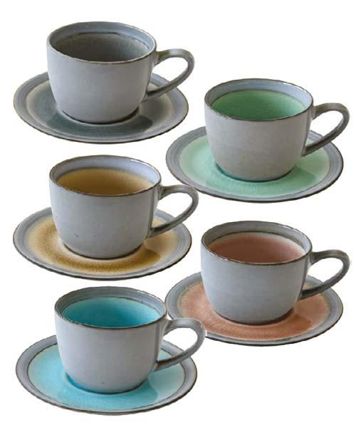 Tazze da tè con piattino Assortite Origin