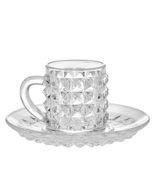 Tazzina caffè in vetro GLAM Tiffany