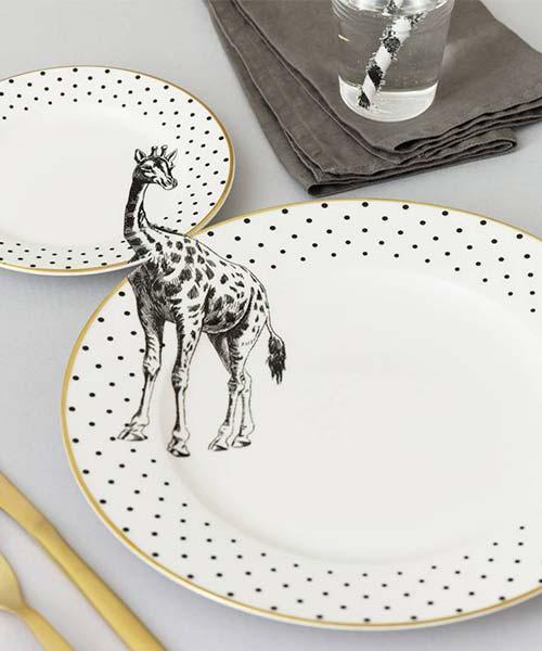 Posto Tavola in Porcellana Giraffa