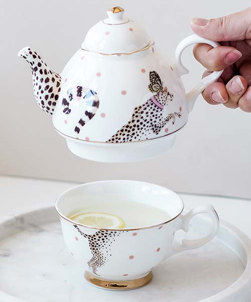 Tea for One in Porcellana Ghepardo