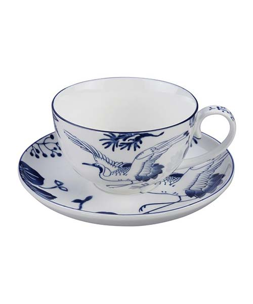 Set 4 tazze tè con piattino Flora Japanica
